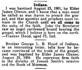 Frances Ann Stewart Hood Baptismal Record