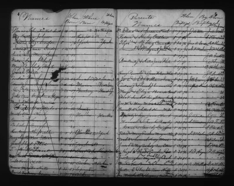 Henry Barr Baptismal Record
