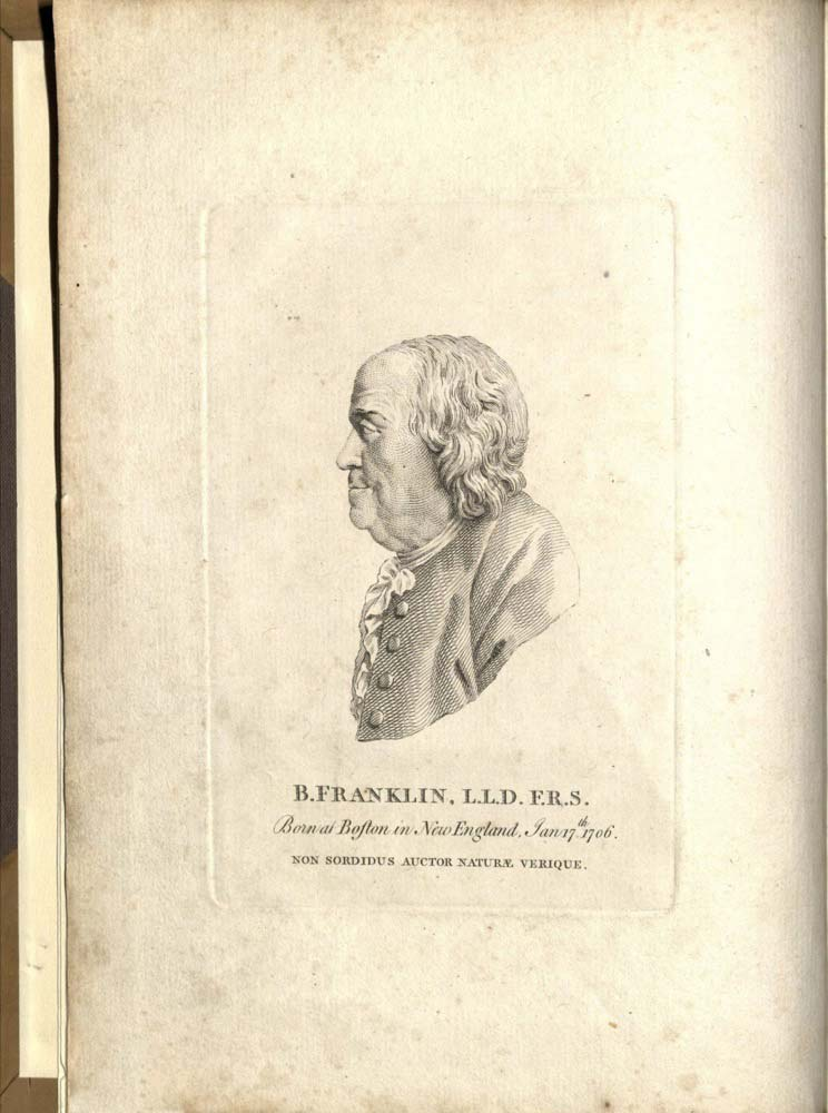 Image from Benjamin Franklin's POLITICAL, MISCELLANEOUS, AND PHILOSOPHICAL PIECES...