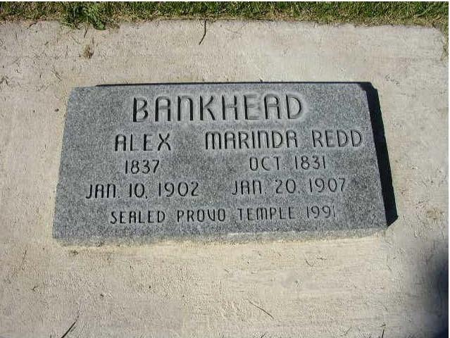 Marina Redd Bankhead and Alex Bankhead Gravestone